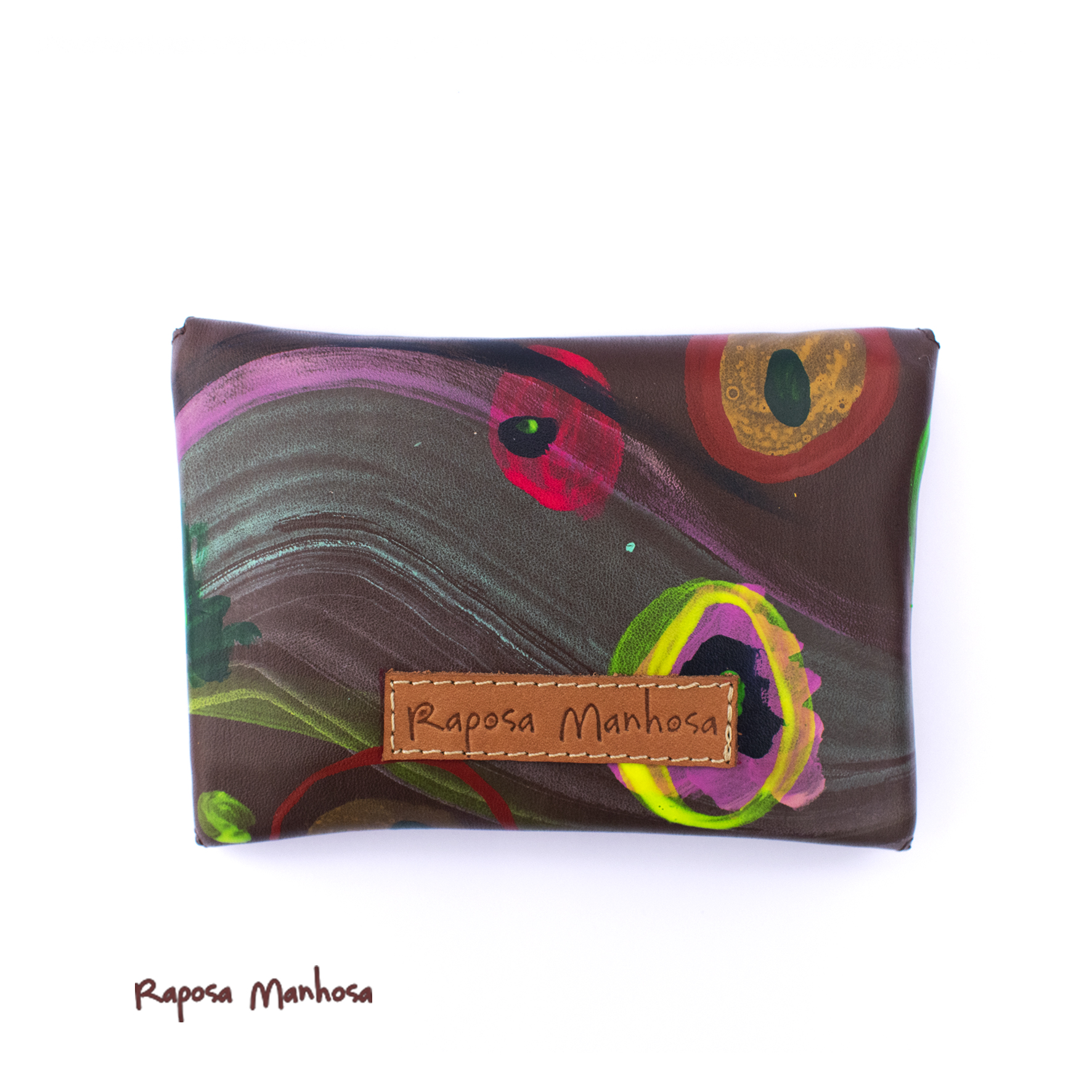 Small Wallet Brown Abstract